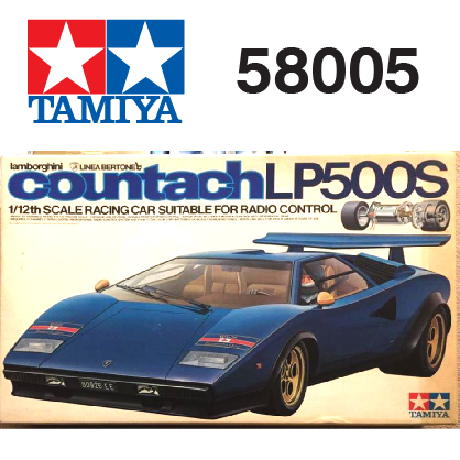The Tamiya Lamborghini Contact LP500s car number 58005