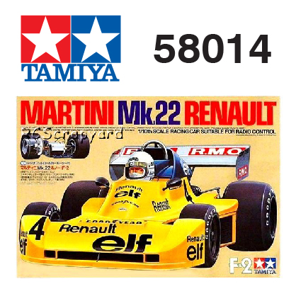 The Tamiya Martini Mk22 Renault RC car number 58056