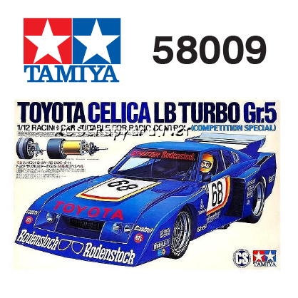 The Tamiya Celica LB Turbo RC car number 58009