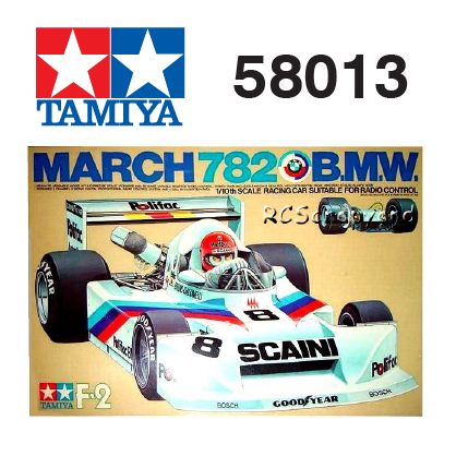 The Tamiya March 782 BMW RC car number 58013