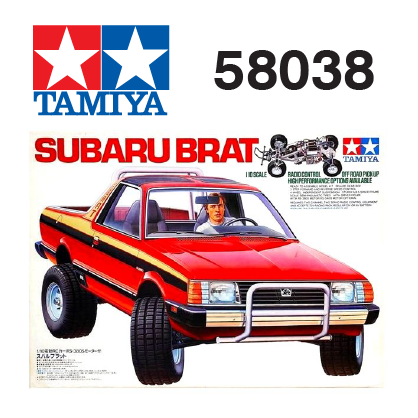The Tamiya Subaru Brat RC car number 58038